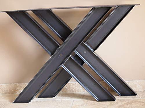 Pied De Table En Ipn Style Industriel Forme De Croix Amazon Fr