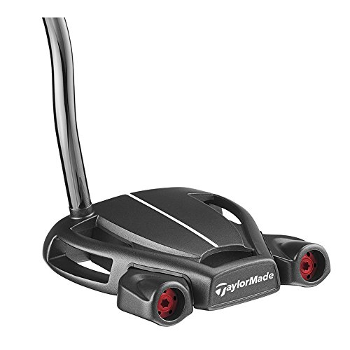 TaylorMade 2018 Spider Tour Black Putter (Double Bend, Right Hand, 33 Inches, with Sightline) (Renewed)
