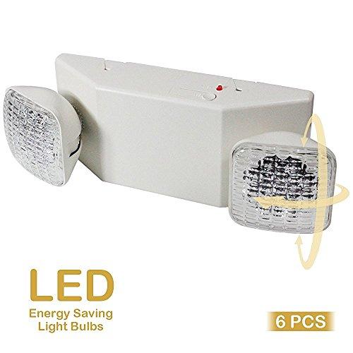 eTopLighting 6pcs x LED Emergency Exit Light - Standard Square Head UL924, EL5C12X6 by eTopLighting