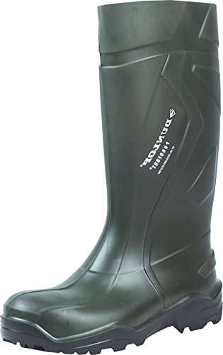Dunlop C762933S5PUROF Unisex Para Adulto con Eje Largo Botas de Agua, Color Verde, Talla 47 EU (13 UK)