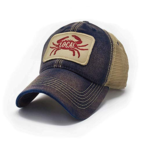 Everyday Trucker Hat Local Seafood Crab, Deep Ocean Blue