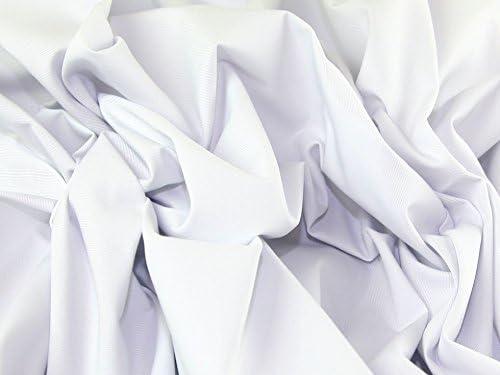 De sarga de algodón liso tela blanca rhinocables + por ...