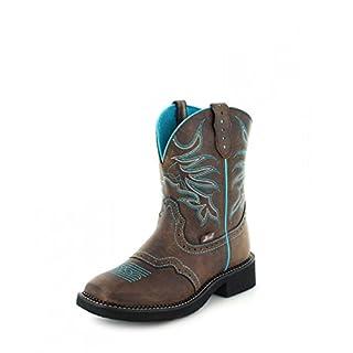 Justin Women's Gypsy Mandra Chocolate Cowgirl Boot Square Toe Chocolate 8 M
