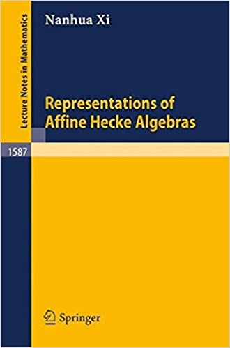 Representations of Affine Hecke Algebras (Lecture Notes in