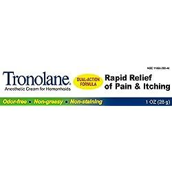 Tronolane Dual Action Anesthetic Cream For Hemorrhoids (1 Oz)