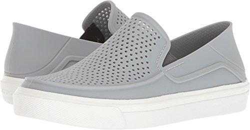 Crocs Kids' Citilane Roka Slip-On, Light Grey/White, 6 M US Toddler