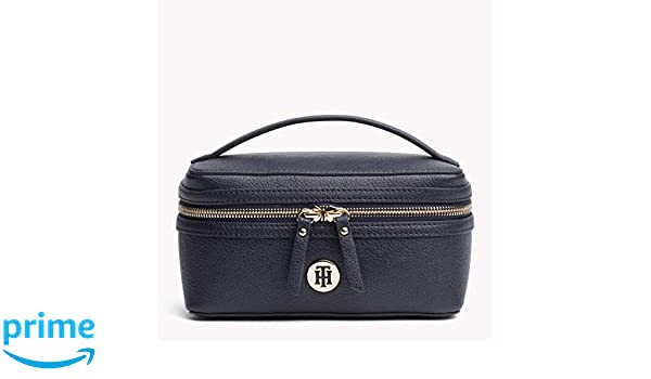 8bcec604bbea Tommy Hilfiger Women's TH Core Cosmetics Bag, Tommy Navy, One Size ...