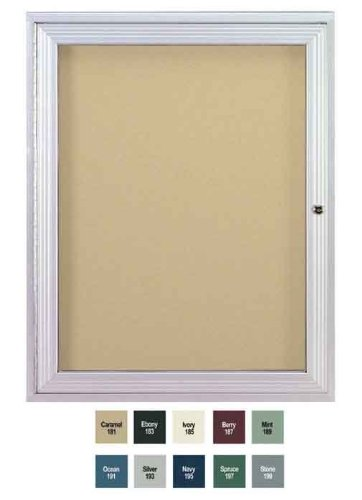 1 Door Outdoor Enclosed Bulletin Board Size: 3' H x 2' W, Frame Finish: Satin, Surface Color: Ivory by Ghent