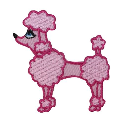 ID 2733 Pink Cotton Candy Poodle Patch Pretty Dog Embroidered Iron On Applique.You've seen them on jackets, jeans, shirts, backpacks, even sneakers