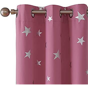 Amazon Com Utopia Decor Pink Blackout Room Curtains