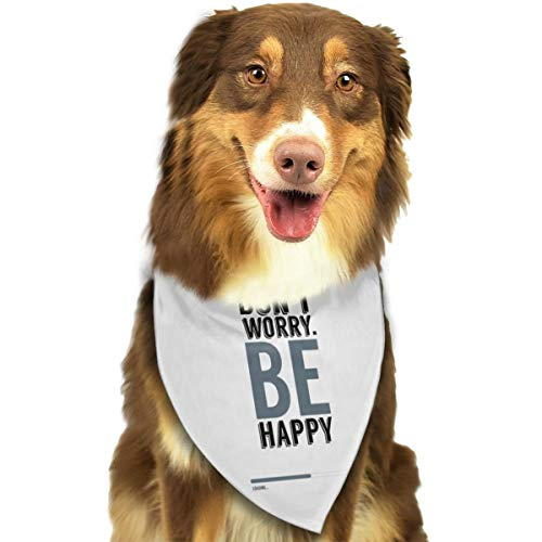 Pet Scarf Dog Bandana Bibs Triangle Head Scarfs Don't Worry Be Happy Accessories for Cats Baby Puppy ()