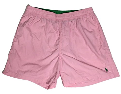Green Pink Pony (Polo Ralph Lauren Swim Trunk Shorts Pink Green Pony XXL Mens )