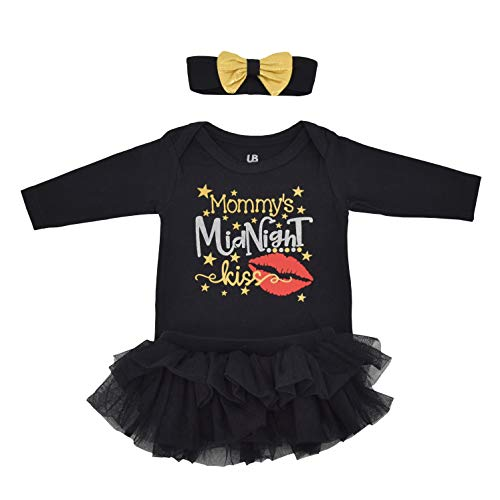 Unique Baby Girls Midnight Kiss New Years Eve Party Tutu Layette (3 Months) Black]()