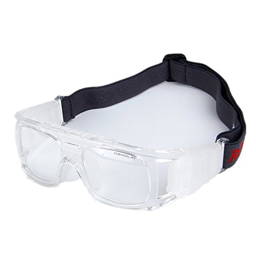Wonzone Sports Goggles Safety Protective Basketball Glasses for Adults with Adjustable Strap for Basketball Football Volleyball Hockey Rugby - Basketball Player Goggles With