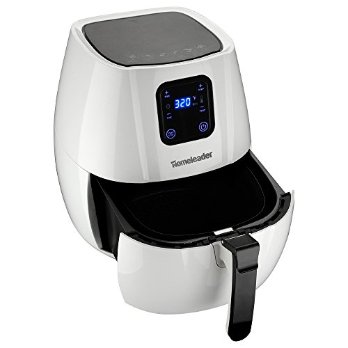 Homeleader Air fryer with Digital LED Touch Screen Technology, 2.65 QT Multi-Cooker, Timer and Temperature Control to 400℉, Little to NO OIL, Rapid Air Circulation System, White, K58-017 For Sale