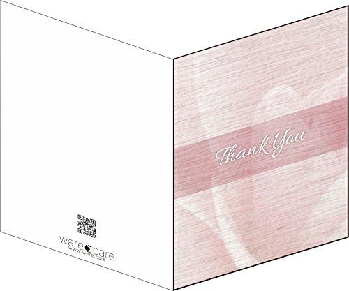 Funeral Memorial Service Thank You Cards & Envelopes (Rosebud Design)