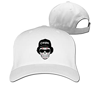 Unisex LunaCpt Skull Wearing Hats And Sunglasses Peaked Cap White One Size