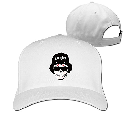 Unisex LunaCpt Skull Wearing Hats And Sunglasses Peaked Cap White One - Video Ebay Glasses