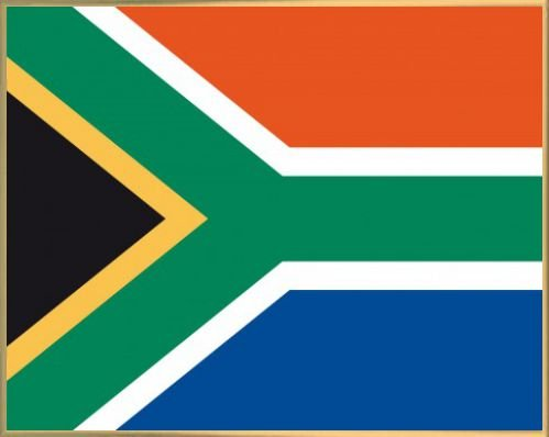 South Africa Poster Art Print and Frame Plastic - Flags Of The World