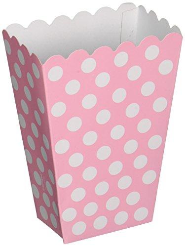 Light Pink Polka Dot Popcorn Treat Boxes, 8ct Dot Polka Dot Candle Holder