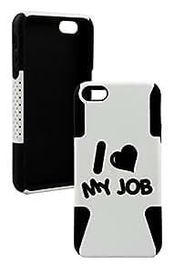 IPhone 5/5s I Love My Job Plastic & Silicone Case - (Black)