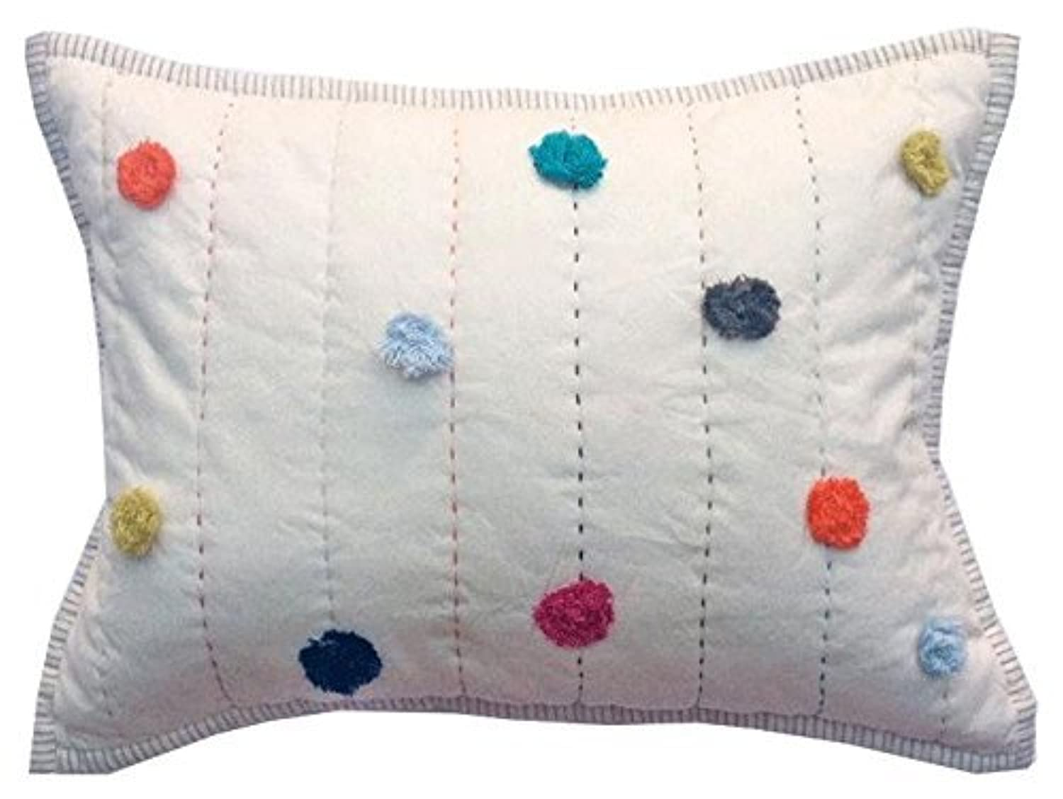 Pehr Designs Pom Pom Pillowcase, Multi by Pehr Designs