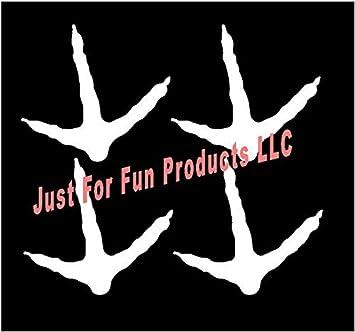 turkey tracks  hunt  bow  gun ton hen fun truck sticker WHITE Vinyl Decal