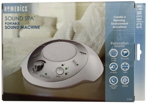 HoMedics SS-2000G/F-AMZ Sound Spa Relaxation Machine with 6 Nature Sounds, Silver, Pack of 2
