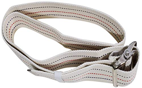 "Transfer Gait Belt with Metal Buckle 1 Loop Handle Beige 60 inches. Available 1 Loop Handle: Beige 72"", Black 60"", 72"", Pink 60"""