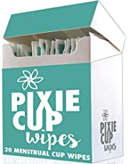 Pixie Menstrual Cup Wipes - 20 Scented Disinfecting Wipes for Menstrual Cups - Kills Germs