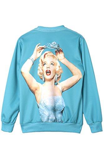 Pink Queen 3d Digital Print Marilyn Monroe Long Sleeve Pullover Sweatshirt Sweater (pattern 6#)