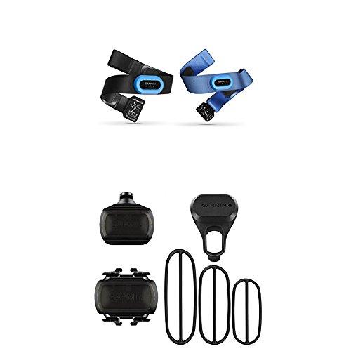 Garmin HRM-Tri and HRM-Swim Accessory Bundle and Bike Speed Sensor and Cadence Sensor