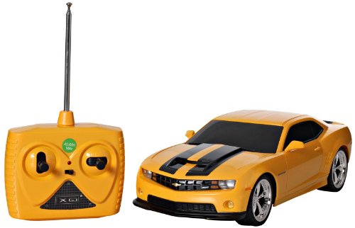 1/18 Scale 2011 Chevrolet Camaro RS SS Yellow w/ Black Stripes Radio Remote Control Car RC