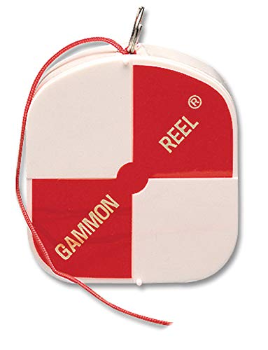 Gammon Reel 012 12-ft (3.6m) Red Cord for Construction (Gannon Reel)