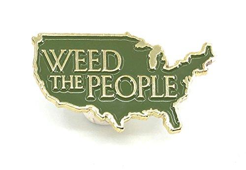 Marijuana Pot Enamel Pin Weed The People America USA - Enamel Pin Earrings