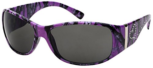 Edge I-Wear Women's Wrap Style Sunglasses with Camo Design (PP. - Camo Sunglasses