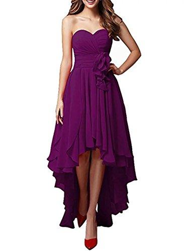 Adodress robe de demoiselle d'honneur en mousseline de soie chrie robe de soire pour les femmes Violet
