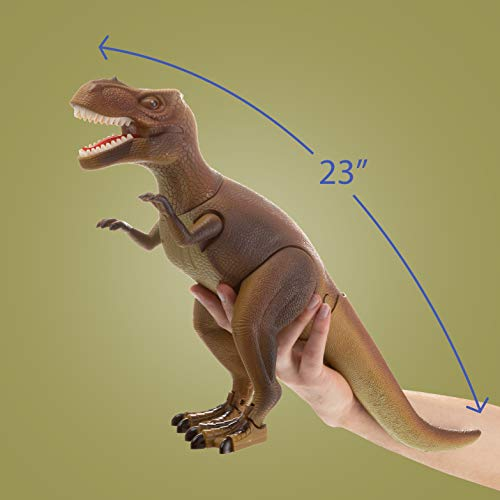 b2af2625 Advanced Play Dinosaur Trex Toy Realistic Walking Tyrannosaurus Rex  Multifunction RC Trex Toy Figure with Roaring