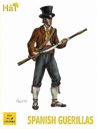 Amazon.com: Napoleonic Spanish Guerillas w/Weapons (96) 1/72 Hat: Toys & Games