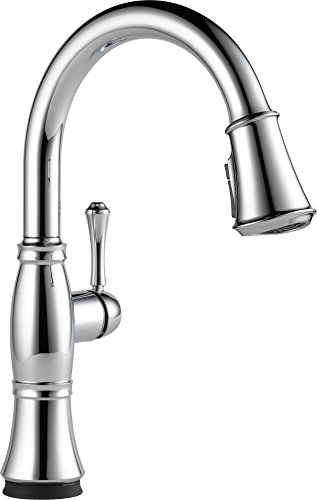 Delta Cassidy Single-Handle Pull-Down Faucet Touch Kitchen with Touch2O Technology Magnetic Docking Spray Head, Chrome 9197T-DST