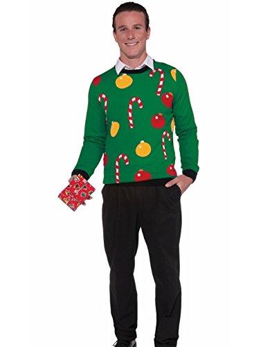 Forum Novelties Adult Extra Large Tis The Season Ugly Christmas Sweater, Multi, (Christmas Caroling Costumes)