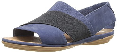 Camper Womens Right Nina K200142 Flat Sandal Blue