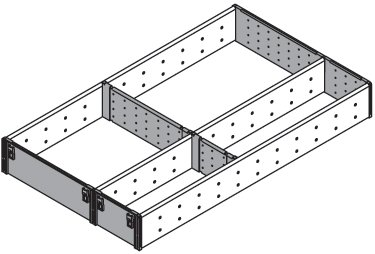 Blum, Orga-Line 3-Tier Utensil Organizer Set, For 20