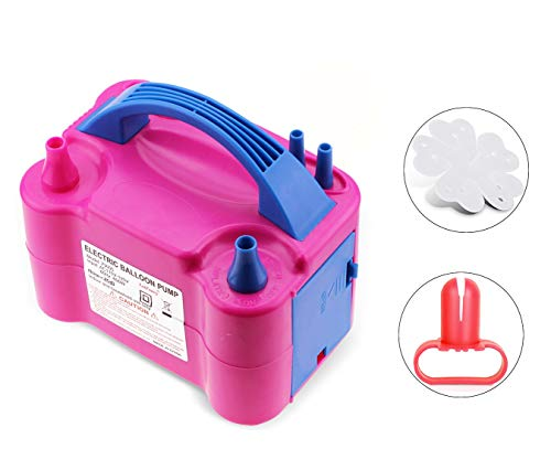 AGPtek® 110V 600W Double Nozzles Electric Balloon Air Inflator Pump High Power Pink
