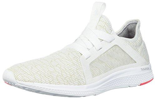 adidas Women's Edge Lux W Running Shoe, White-Crystal White-Shock Red, 5 M US