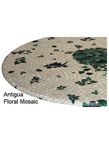 Fitted Round Elastic Edge Mosaic Vinyl Tablecloth Table Cover fits 36
