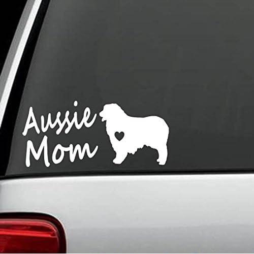 Nice C1141 Australian Shepherd Aussie Mom Dog Decal Sticker hot sale