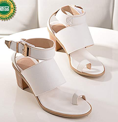 Cheville Blanc Sandales Aisun Orteil Plage Confortable Chaussures Femme De Bride 8wvvrzqInR