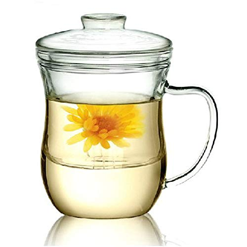 Kendal 10 oz Glass Filtering Tea Maker with infuser Teapot Tea Cup CJ-300