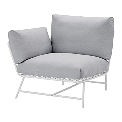 Etonnant IKEA Corner Chair With Cushions, White, Gray 14204.2382.614